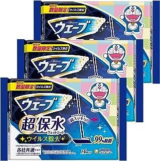 【量贩装】Wave 地板用清洁用品 湿巾 超保水 清除* 14片×3个(哆啦A梦包装)(清洁用品)