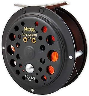 Martin Caddis Creek 6/5 单动作飞钓渔线轮,加固铝制线轴,带按钮释放,预绕 20 磅背衬,LT6F 飞线和 5X 引线