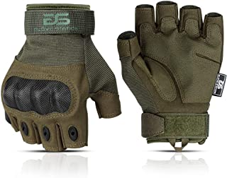 Glove Station The Combat 无指*警察户外运动战术橡胶指关节手套,1 双