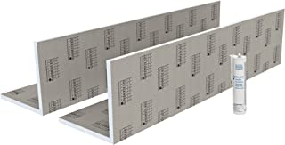 LUX ELEMENTS 管道盒,用于瓷砖,TEC-KA 30 套装 LTECX6003,灰色,30 x 30 x 250 厘米