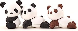 儿童橡皮擦熊猫角色动物文具3件套