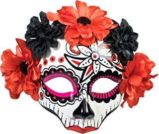 Forum Novelties 女士死亡之日骷髅花面具