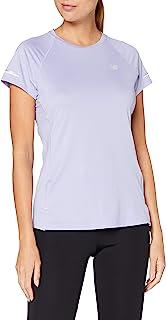 New Balance 女式 Nb Ice 2.0 Ss 跑步 T 恤上衣