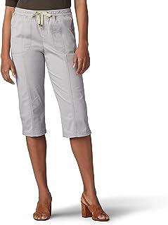 LEE 女式 Flex-to-go 宽松款套穿实用七分裤