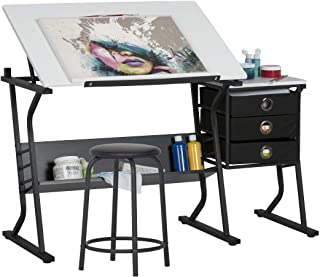 Studio Designs 13364 Eclipse 中心,黑色带白色 黑色/白色 49W x 24D 13364