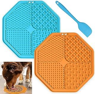 OUTHIGH 狗狗舔垫2 只狗狗慢喂食器带宠物食物勺的宠物*狗狗*垫带吸盘,非常适合洗澡、*、训练