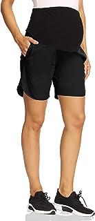V VOCNI 孕妇短裤女式速干运动跑步锻炼短裤带口袋 -7 英寸