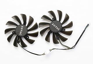 BestParts 新款显卡散热风扇适用于 ZOTAC GTX 1070Ti 1080 Ti AMP 版 GAA8S2U 95MM 4Pin
