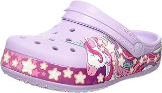 Crocs 兒童 Unicorn Band 洞洞鞋 | 幼兒、男孩、女孩一腳蹬水鞋