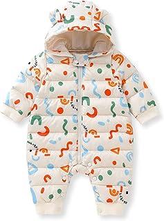 Pureborn 男女通用婴儿哈衣冬季加厚外套卡通连帽衫紧身衣雪衣连体衣套装