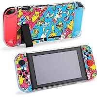 Nintendo Switch 保护套,可爱动物皮卡丘图案保护套,适用于Nintendo Switch Split 5…
