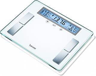Beurer Glass Body 分析浴室体重计,带超大液晶显示屏