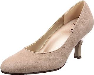 [萨克森沃克] 浅口鞋 圆头 鞋跟7cm D~EE 羊皮 WIN370