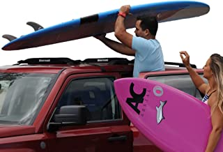 DORSAL Wrap-Rax 冲浪板柔软车顶行李架垫带系紧带,19/28 英寸(约 4.9 厘米)长(一对),通用车顶行李架,适用于长板、桨板、滑雪板、皮划艇 20