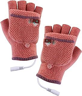 Jinxuny 双面 USB 加热手套 男女冬季电热保暖运动手套 手套