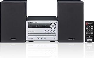Panasonic 松下电器 微型HiFi系统 SC-PM250B(带CD,FM/DAB+,蓝牙,USB,20瓦RMS),银色