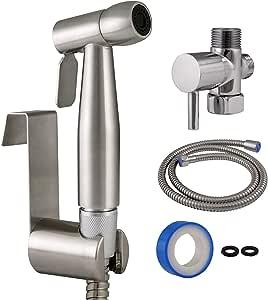 Design House 588913-SS 现代单功能双安装手持式净身盆喷雾器,浴室,不锈钢
