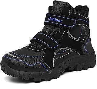 AFFINEST 儿童雪地靴男孩女孩冬季鞋毛皮衬里保暖运动鞋徒步户外防水