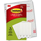 Command 大号图片悬挂条,白色,*大可容纳 7.3 千克,14 双,易于打开包装
