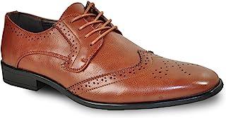 BRAVO 男式正装鞋 king-2经典尖头牛津鞋采用皮革内衬–WIDE 宽度可选