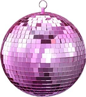 镜球,NuLink 6 英寸粉色迪斯科 DJ 舞蹈装饰舞台闪电球,带挂环