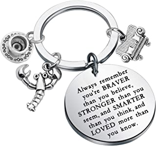KUIYAI Friends 电视剧灵感礼物 Always Remember You're Braver Than You Believe 钥匙扣电影粉丝礼品友谊珠宝励志礼物