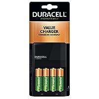 Duracell 离子速度 1000 电池充电器 带 4 节 AA 电池 适用于 AA 和 AAA 电池
