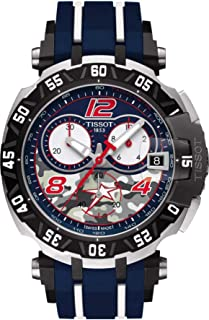 TISSOT 天梭 蓝色表盘 计时石英 男式手表 T092.417.27.057.04