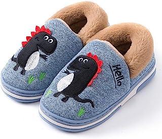 Kids House 拖鞋男孩女孩恐龙家居拖鞋冬季温暖室内户外鞋可爱动物*泡沫卧室毛绒拖鞋