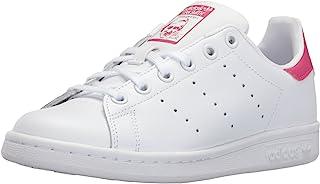 adidas 阿迪达斯 Originals 中性儿童 Stan Smith 运动鞋 白色/粉色 5 Big Kid
