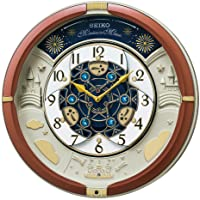 Seiko 精工 台式时钟 挂钟 茶色金属 39×39×9.6厘米 模拟 机械时钟 三重精选 Melody RE601B