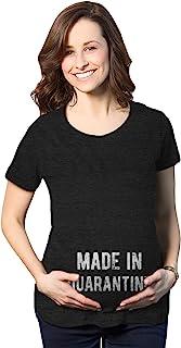 孕妇 Made in Quarantine T 恤趣味社交距离婴儿公告图案新颖 T 恤