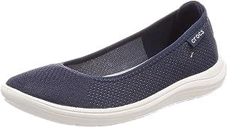 Crocs 女士 Reviva 芭蕾平底鞋