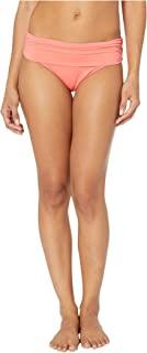LAUREN RALPH LAUREN RALPH LAUREN 女式 Oceania 花卉 宽褶皱 带状 时髦内裤  珊瑚礁 8