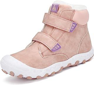 Mishansha 男童女童防水徒步靴防滑运动户外脚踝徒步鞋
