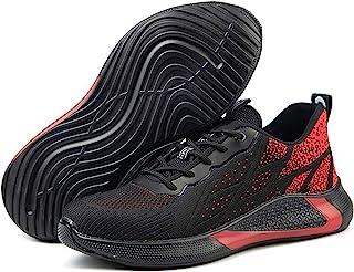 HOSTIC 男式*工作鞋钢鞋头靴子轻便运动鞋坚不可摧户外款