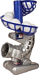 Franklin Sports MLB 电子棒球投球机 – 高度可调节 – 每 7 秒投球一次 – 包括 6 个塑料棒球