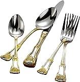 Royal Albert 古国玫瑰餐具套装,20件,金色