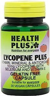 Health Plus 番茄红素 Plus 10 毫克男士*植物补充剂 - 30 粒不含明胶胶囊