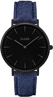 cluse 女式模拟经典石英手表皮革表带 CL18507