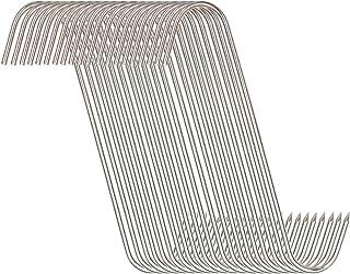 20 件肉钩 6 英寸(约 15.2 厘米),麦芽酒不锈钢轻质挂钩,用于肉类加工悬挂吸烟(肉钩 20 包 6 英寸(约 15.2 厘米) 3 毫米)