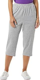 AmeriMark 七分裤弹性腰 * 纯棉针织套穿舒适侧口袋