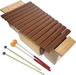 Orff ALTO 木琴,带谐振器,15 个玻璃纤维钥匙,2 对木槌