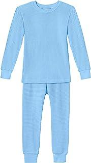 City Threads 男孩和女孩保暖内衣打底长款 John 套装 - 柔软 * 纯棉 - 美国制造