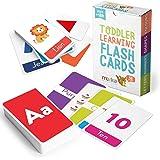 merka 教育闪存卡,适合幼儿学习字母颜色形状数字 58 张卡片