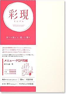 PCM竹尾 打印机纸 彩现 菜单・POP用 A4 128.0g/m2 A4 新だん紙 雪