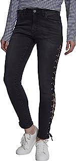 Urban Classics 女式牛仔系带紧身牛仔裤