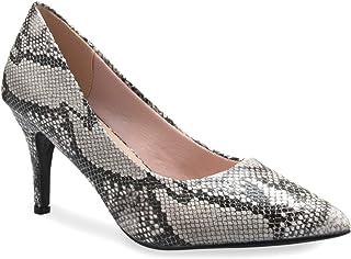 OLIVIA K 女孩闪亮网眼细节一脚蹬芭蕾平底鞋(幼儿/小女孩)