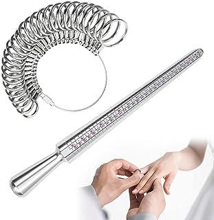戒指芯片,2 件戒指测量工具,铝戒指芯和戒指尺寸测量 27 件金属圈模型(美国尺码 0-13),珠宝制作测量戒指尺寸测量工具