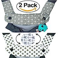 优质水滴和出牙棉垫——适合 Ergobaby Four Position 360 和大多数婴儿背带——箭头设计——低*性…